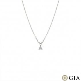 White Gold Round Brilliant Cut Diamond Pendant 0.52ct H/VS1 XXX